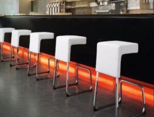 how far apart should bar stools be