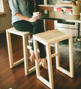 diy bar stools with trees