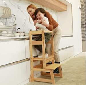 kitchen stools with backs and steps