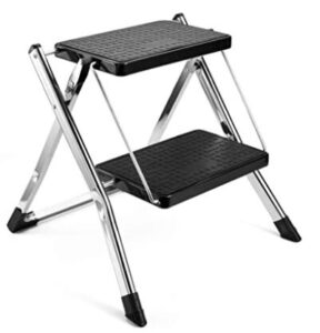 folding step stool with seat
