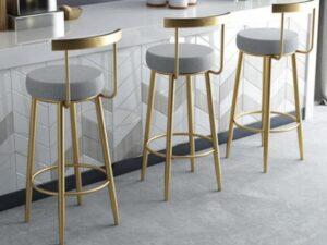 round padded bar stools