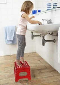 wide folding step stool