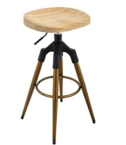 round metal bronze bar stools