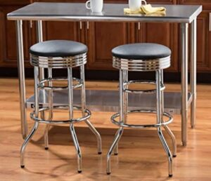 vintage chrome bar stools