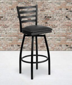high back black bar stools