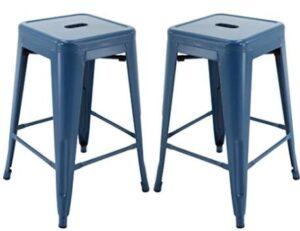 navy blue breakfast bar stools