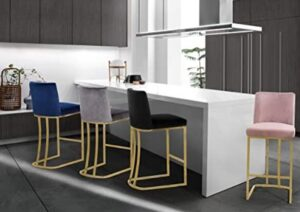 navy blue and gold bar stools