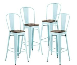 blue bar height stools