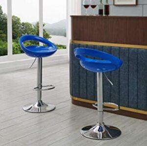 peacock blue bar stools