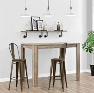 high back bronze bar stools