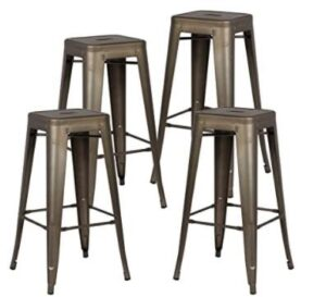 backless bronze bar stools