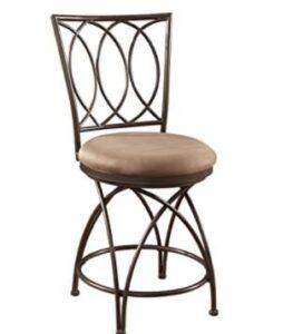 high back metal bronze bar stools