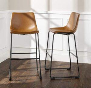 light brown bar stools