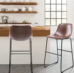 leather brown bar stools
