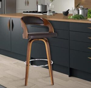 curved back brown bar stools