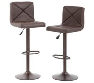swivel brown bar stools