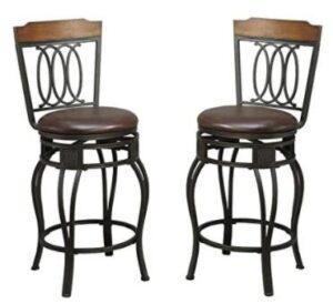 short brown bar stools