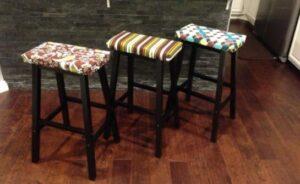 how to make saddle seat bar stools