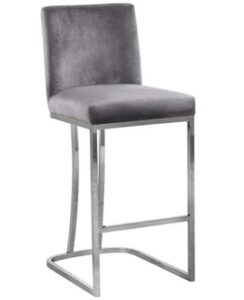 chrome wire bar stools