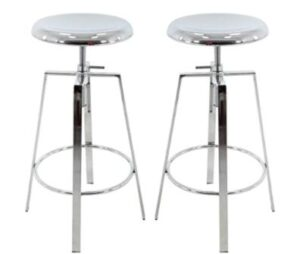 all chrome bar stools
