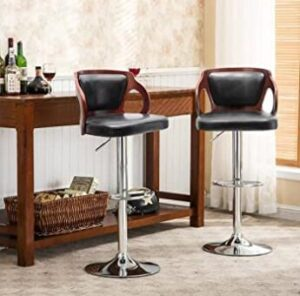 leather bar stools with swivel function