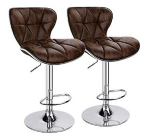 adjustable brown bar stools