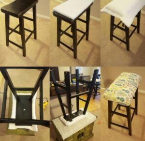 how to make bar stools cushions