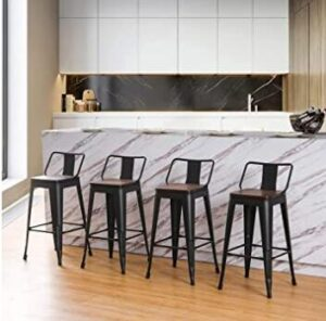 commercial bar stools with mid back