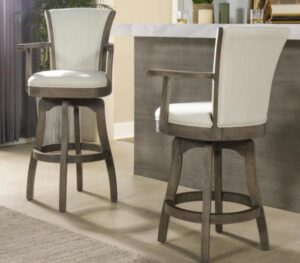 adjustable swivel bar stools with back and armrest