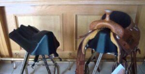 make bar stools into saddle seat stool