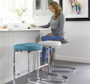 chrome bar stools for breakfast