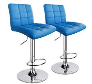light blue swivel bar stools