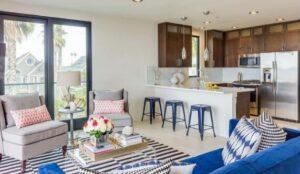 pale blue bar stools