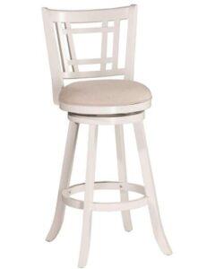 white leather bar stools