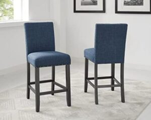 high back sturdy blue bar stools