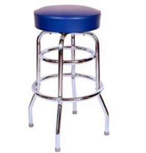 round blue bar stools