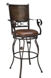cushioned bronze bar stools