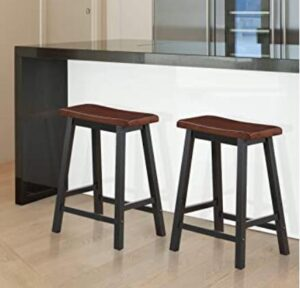 wooden saddle seat bar stools