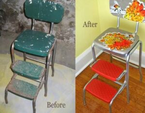 guides of restoring vintage step stools