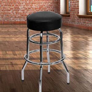backless pub chrome bar stools