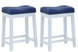 modern blue bar stools