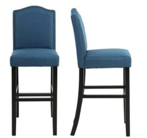 blue bar stools for back pain