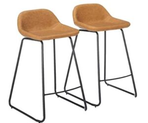 leather saddle bar stools 24