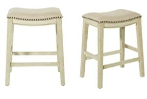 white saddle seat bar stools