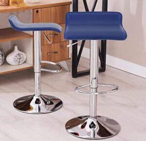 short back blue swivel bar stools