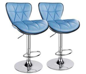 light blue bar stools