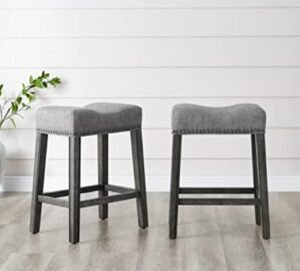 leather saddle bar stools