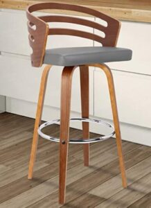 wooden swivel bar stools with backs and arms