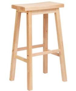 natural wooden bar stools