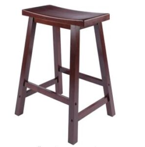 square wooden bar stools